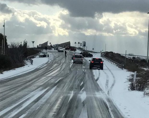 efecto nieve carretera